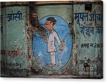 Delhi Smoker Canvas Print by Jen Bodendorfer