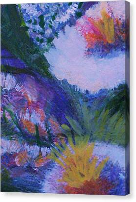 Delightful And Bright  Canvas Print by Anne-Elizabeth Whiteway