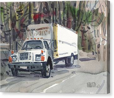 Delivery Truck Two Canvas Print by Donald Maier