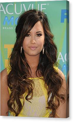 Demi Lovato At Arrivals For 2011 Teen Canvas Print by Everett