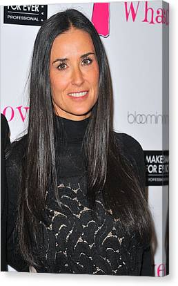 Demi Moore At The After-party For Love Canvas Print by Everett