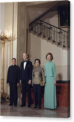 Deng Xiaoping Jimmy Carter Madame Zhuo Canvas Print by Everett