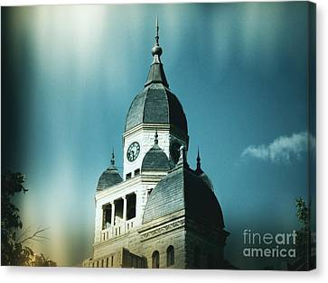 Denton County Courthouse Canvas Print by Angela Wright