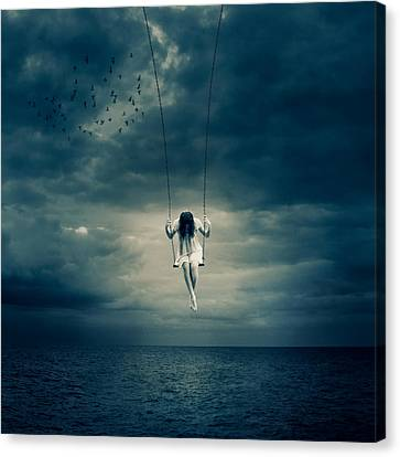 Depressed Canvas Print by Ian Barber