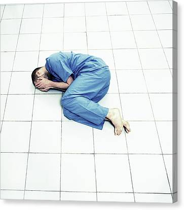 Depressed Man Canvas Print by Kevin Curtis