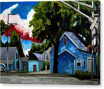 Der Blau Haus Canvas Print by Charlie Spear