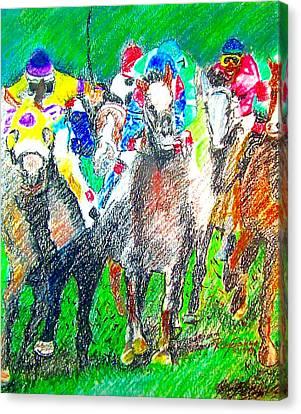 Derby Canvas Print by Rom Galicia