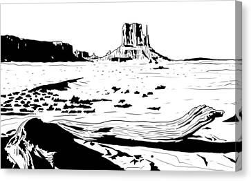 Desert Canvas Print by Giuseppe Cristiano