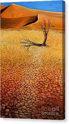 Desert Pan Canvas Print by Caroline Street