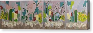 Desert Pastoral Canvas Print by Frederick Fulmer