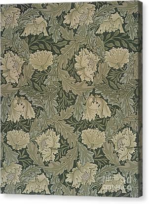 Design For 'lea' Wallpaper Canvas Print by William Morris