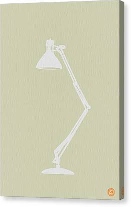 Desk Lamp Canvas Print by Naxart Studio