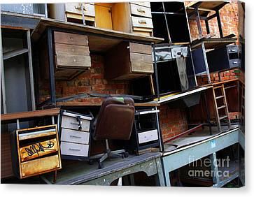 Desk Scrap Canvas Print by Carlos Caetano