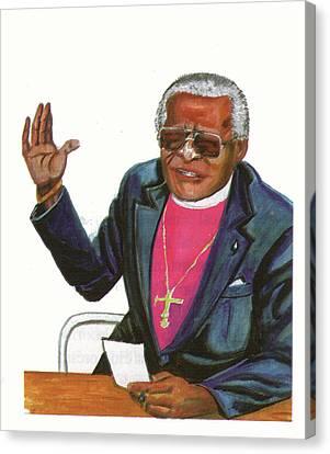 Desmond Tutu Canvas Print by Emmanuel Baliyanga