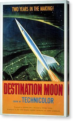 Destination Moon, 1950 Canvas Print by Everett