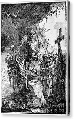 Destruction Of Idols, C1750 Canvas Print by Granger