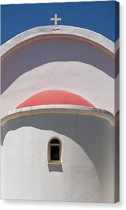 Detail Of Small Church Between Limnes Canvas Print by Axiom Photographic