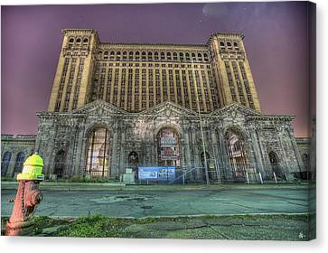 Detroit's Michigan Central Station - Michigan Central Depot Canvas Print by Nicholas  Grunas