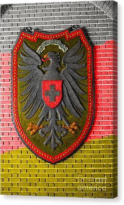 Deutsch Weimarer Shield Canvas Print by Jost Houk