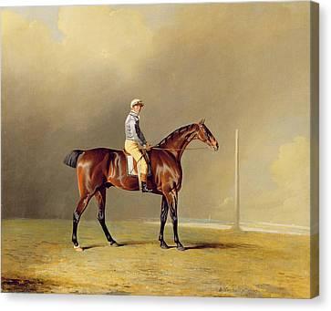 Diamond - With Dennis Fitzpatrick Up Canvas Print by Benjamin Marshall