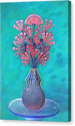 Diatoms Canvas Print by Purvis Evans