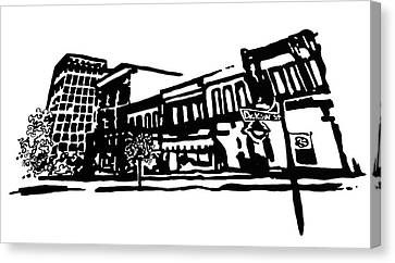 Dickson Street In Fayetteville Ar Canvas Print by Amanda  Sanford
