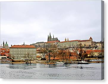 Die Moldau - Prague Canvas Print by Christine Till