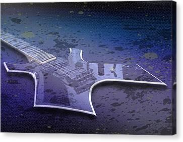 Digital-art E-guitar I Canvas Print by Melanie Viola
