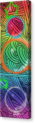 Digital Doodles Canvas Print by Anthony Caruso
