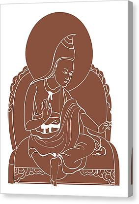 Digital Illustration Of 8th Century Buddhist Monk Padmasambhava Canvas Print by Dorling Kindersley