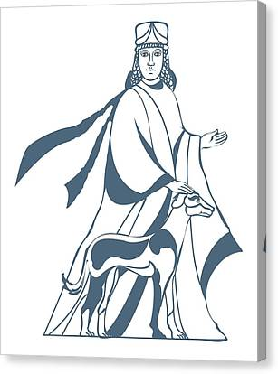 Digital Illustration Of Vohu Manah Caretaker Of Domestic Animals In Zoroastrianism Canvas Print by Dorling Kindersley