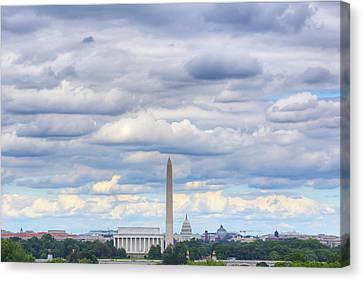 Digital Liquid - Clouds Over Washington Dc Canvas Print by Metro DC Photography