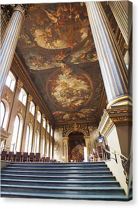Dining Hall At Royal Naval College Canvas Print by Anna Villarreal Garbis