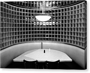 Dining In Black And White Canvas Print by David Lee Thompson