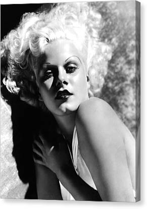 Dinner At Eight, Jean Harlow, 1933 Canvas Print by Everett