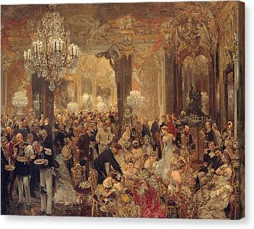 Dinner At The Ball Canvas Print by