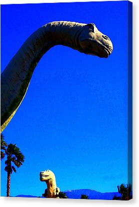 Dinny And Mr. Rex Canvas Print by Randall Weidner