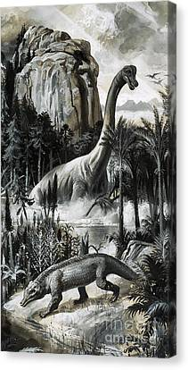 Dinosaurs Canvas Print by Roger Payne