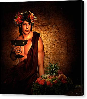 Dionysus Canvas Print by Lourry Legarde