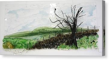 Dirt Road Canvas Print by Mariann Taubensee