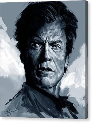 Dirty Harry  - Clint Eastwood  Canvas Print by Kiran Kumar