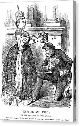 Disraeli Cartoon, 1876 Canvas Print by Granger