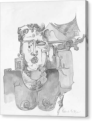 Distortion 3 Canvas Print by Padamvir Singh