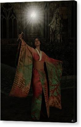 Divine Light Canvas Print by Maynard Ellis