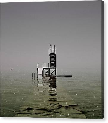 Diving Platform Canvas Print by Joana Kruse