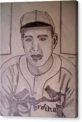 Dizzy Dean Cardinals Pitcher Canvas Print by De Beall