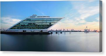 Dockland Evening Canvas Print by Marc Huebner