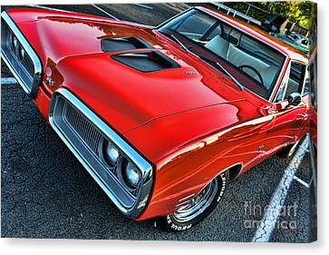 Dodge Super Bee In Red Canvas Print by Paul Ward