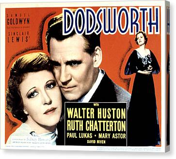 Dodsworth, Ruth Chatterton, Walter Canvas Print by Everett
