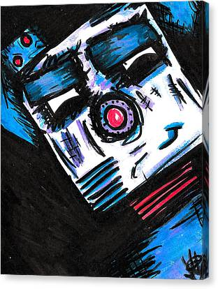 Doggy Bot Canvas Print by Jera Sky